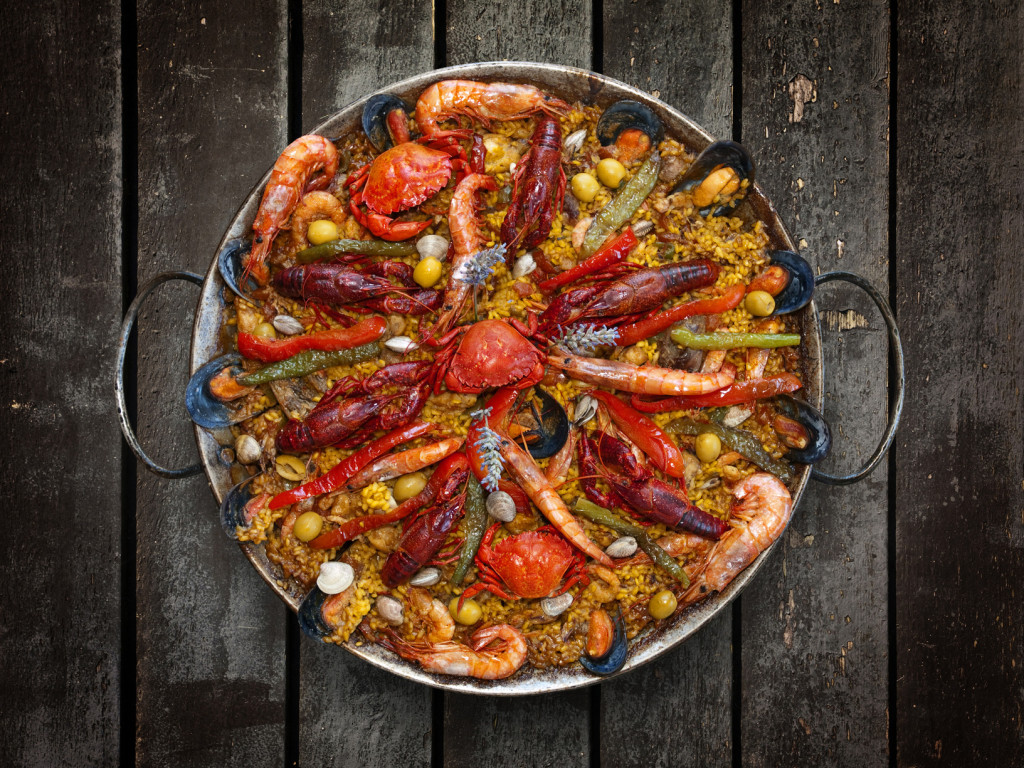Spanish Traditional Seafood Paella